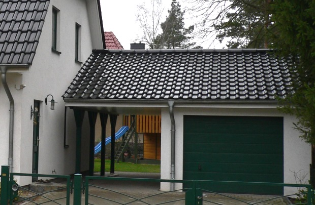 Garage mit carport satteldach  Carports Übersicht - garagenanbieter.de